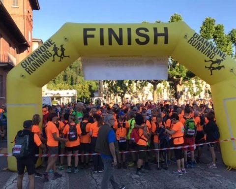 Francigena marathon Val di Susa 2019, la partenza da Avigliana
