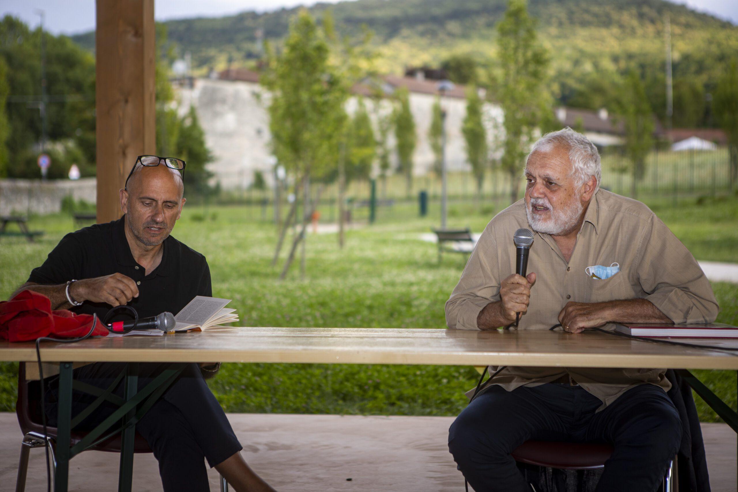 Marco Tullio Giordana insieme a Marco Ponti per l'incontro del Valsusa Filmfest il 23 giugno 2021